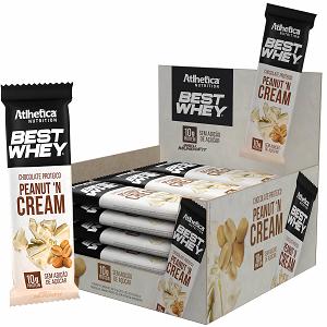 Best Whey Chocolate Proteico sabor Cookies (Caixa c/ 12 tabletes) - Atlhetica