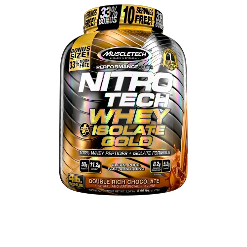 Nitro Tech Plus Whey Gold Isolate sabor Double Rich Chocolate (1,8kg) - Muscletech