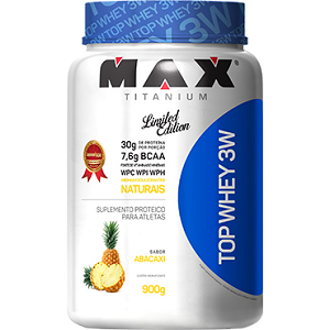 Top Whey 3W Sabor Abacaxi (900g) - Max Titanium