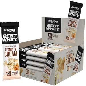 Best Whey Chocolate Proteico sabor Crunchy n Cream (Caixa c/ 12 tabletes) - Atlhetica