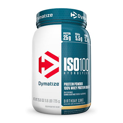 Whey Protein Hydrolized Iso 100 Sabor Chocolate c/ Amendoim (726g) - Dymatize