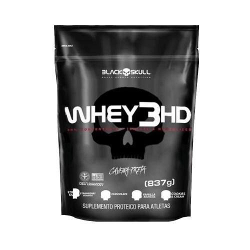 Whey 3HD Caveira Preta Refil Sabor Chocolate (837g) - Black Skull