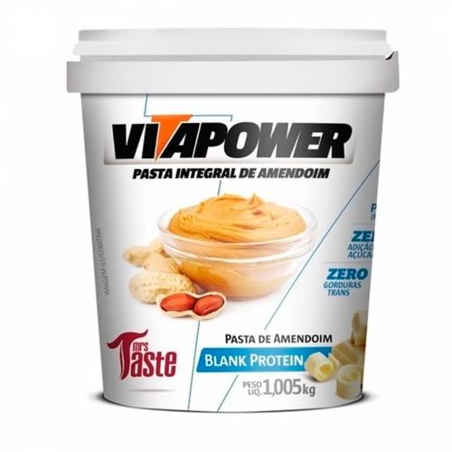 Pasta de Amendoim Integral Blank Protein (1kg) - VitaPower