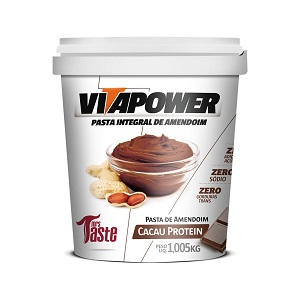 Pasta de Amendoim Integral Cacau Protein (1kg) - VitaPower