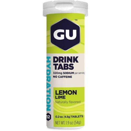GU Hydration Drink Tabs Sabor Limão (Tubo com 12 Pastilhas) 55g - GU Energy
