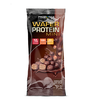Wafer Protein Mini Sabor Chocolate (1 Unidade de 50g cada) - Probiótica