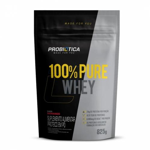 100% Pure Whey Protein Sabor Morango (825g) - Probiótica