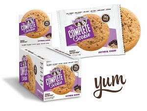 The Complete Cookie Sabor Aveia com uva passas (Caixa c/ 12) - Lenny & Larry's
