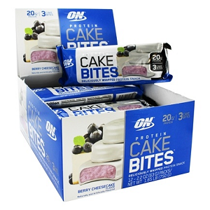 Protein Cake Bites - Berry Cheesecake - Optimum Nutrition - (Caixa 12 unidades)