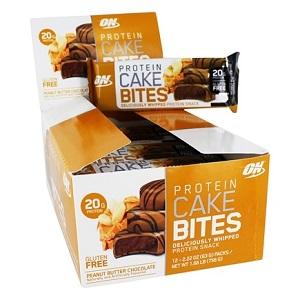 Protein Cake Bites - Peanut Butter Chocolate  - Optimum Nutrition - (Caixa 12 unidades)