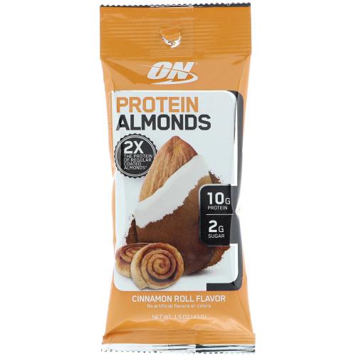 Almonds Preotein Sabor Cinamon Roll (Amêndoas Proteicas) unidade (43g) - Optimum Nutrition