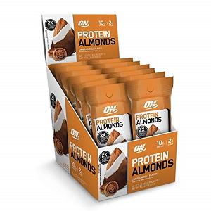 Almonds Preotein Sabor Cinnamon Roll Caixa c/ 12 unidade de 43g cada - Optimum Nutrition