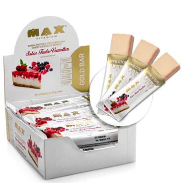Gold Bar Sabor Frutas Vermelhas (caixa c/ 12 Unidades de 50g) - Max Titanium