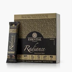 Radiance Protein Bar Sabor white Chocolate (Cx c/ 8 unidades de 70g) - Essential