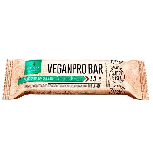 Veganpro Bar - Amendoim Crocante - Nutrify - 1 Unidade de 40g