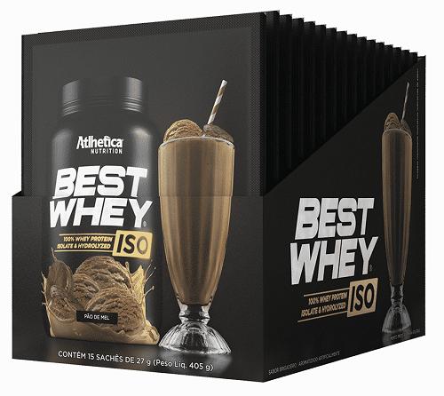 Best Whey ISO Sabor Pão de Mel (Cx 15 Sachês) - Atlhetica Nutrition