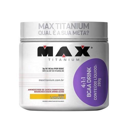 4:1:1 BCAA Drink - Max Titanium - Laranja 280g