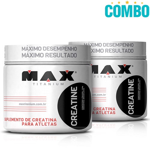 Combo: Creatina (150g) - Max Titanium - 2 Unidades