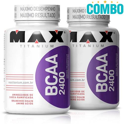 Combo: BCAA 2400 (100 Caps) - Max Titanium -  2 Unidades