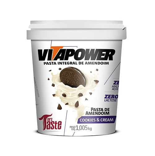 Pasta de Amendoim Integral Cookies & Cream (1.005kg) - VitaPower