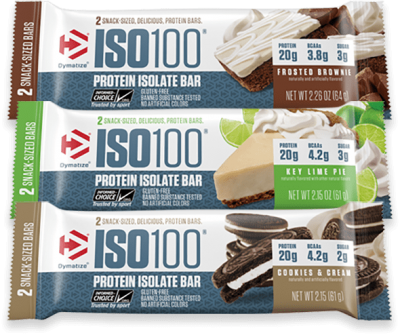 ISO 100 Protein Isolate Bar Sabor Cookies and Cream (64g) - Dymatize
