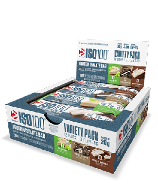 ISO 100 Protein Isolate Bar Sabor Cookies and Cream (Caixa com 12 Unidades) - Dymatize