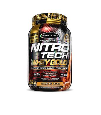 Nitro Tech 100% Whey Gold Sabor Morango (999g) - Muscletech