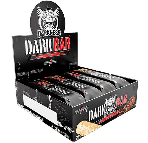 Whey Bar Darkness Sabor Caramelo (Cx c/ 8 Unidades de 90g) - Integralmédica