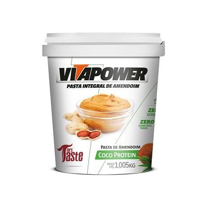 Pasta de Amendoim Integral Coco Protein (1.005kg) - VitaPower
