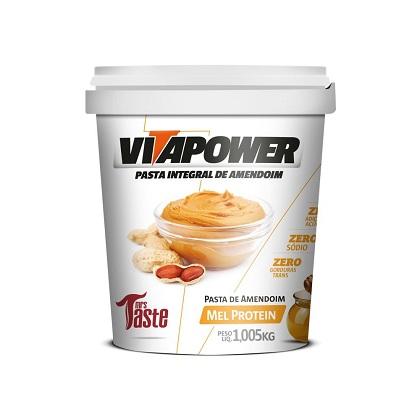 Pasta de Amendoim Integral Mel Protein (1.005kg) - VitaPower