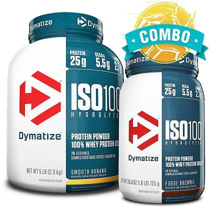 Super Combo ISO 100%: Sabor Morango (2,257Kg + 726g) - Dymatize