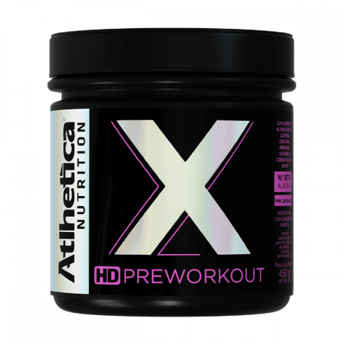 X - Preworkout Sabor Pink Lemonade (450g) - Atlhetica Nutrition