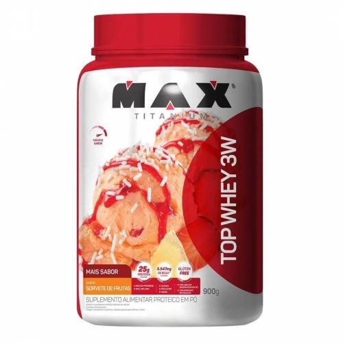 Top Whey 3W Mais Sabor Sorvete de Frutas (900g) - Max Titanium