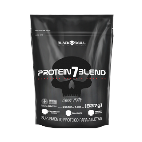 Protein 7 Blend Sabor Chocolate (837G) Refil - Black Skull