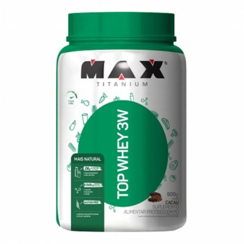 Top Whey 3W Mais Natural  Sabor Cacau (900g) - Max Titanium