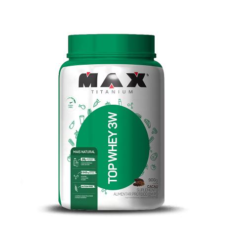 Top Whey 3W Mais Natural Sabor Café com Leite (900g) - Max Titanium