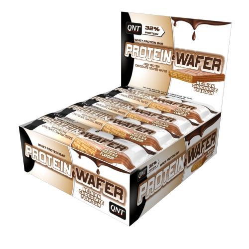 Protein Wafer Bar Sabor Chocolate Belga (12 Unidades de 35g) - QNT