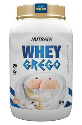 Whey Grego Sabor Beijinho (900g) - Nutrata