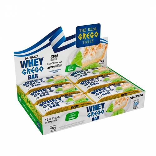 Whey Grego Bar Sabor Torta de Limão (Cx com 12 unidades de 40g) - Nutrata