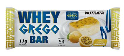 Whey Grego Bar Maracujá (1 unidade de 40g) - Nutrata