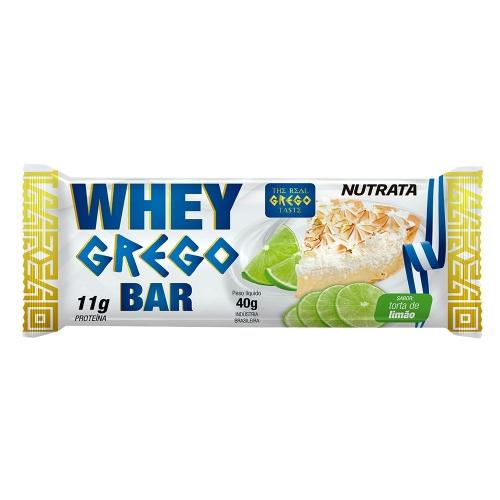 Whey Grego Bar Sabor Morango (1 unidade de 40g) - Nutrata