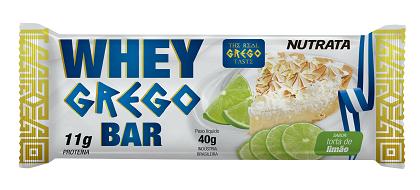 Whey Grego Bar Sabor Torta de Limão (1 unidade de 40g) - Nutrata