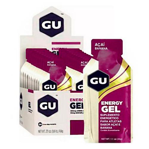 Energy Gel Sabor Açaí c/ banana (24 Sachês de 32g) - GU