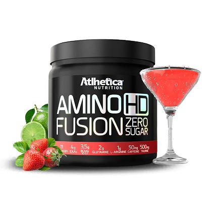 Amino HD Fusion Sabor Morango com limão (450G) Atlhetica Nutrtion