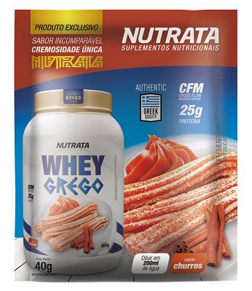 Whey Grego Sachê Sabor Churros (1 unidade de 40g) - Nutrata