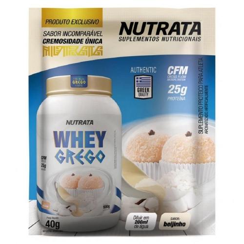Whey Grego Sachê Maracujá (1 unidade de 40g) - Nutrata