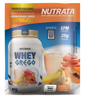 Whey Grego Sachê Sabor Vitamina de Frutas (1 unidade de 40g) - Nutrata