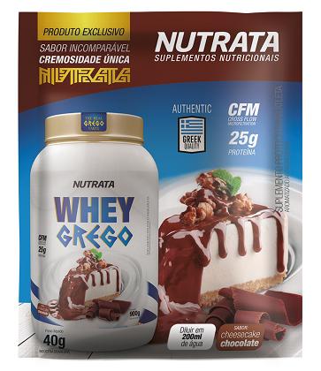 Whey Grego Sachê Cheesecake Chocolate (1 unidade de 40g) - Nutrata