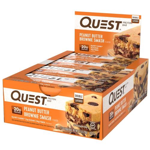 Quest Bar - Protein Bar Sabor Peanut Butter brownie Smash (Caixa c/ 12 Unidades de 60g cada) - Quest Nutrtion