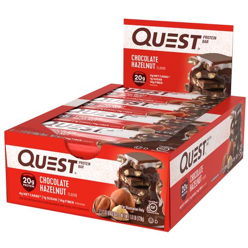 Quest Bar - Protein Bar Sabor Chocolate Halzenut (Caixa c/ 12 Unidades de 60g cada) - Quest Nutrtion